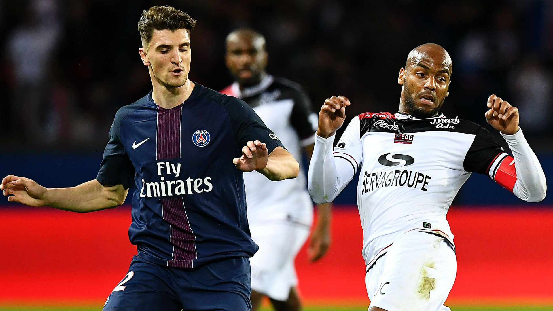 Jimmy Briand Thomas Meunier PSG Guingamp Ligue 1 09042017