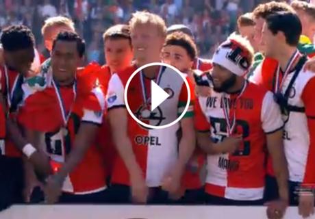 ► La celebración del Feyenoord