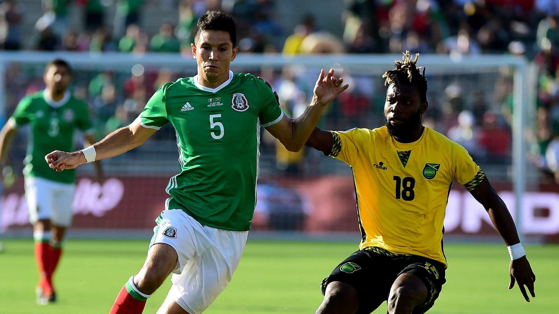 Jesus Molina Je-Vaughn Watson Mexico Jamaica Gold Cup