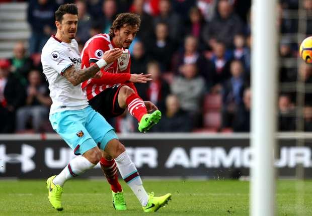 Manolo Gabbiadini segna all'esordio contro il West Ham United, il 4 febbraio 2017, foto: Getty images