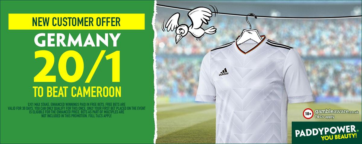GFX Germany Cameroon enhanced betting