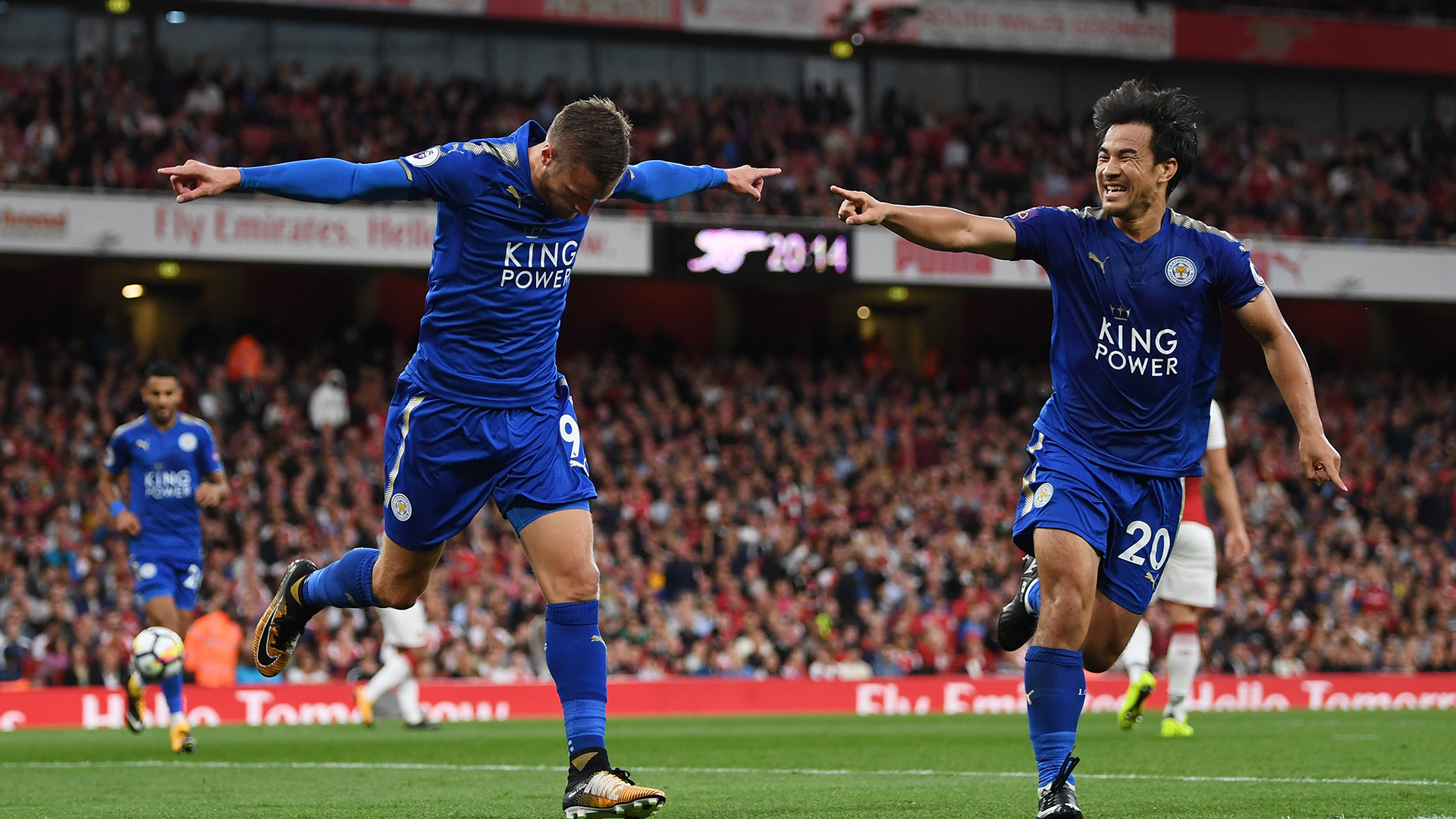 Jamie Vardy Shinji Okazaki Arsenal Leicester City Premier League