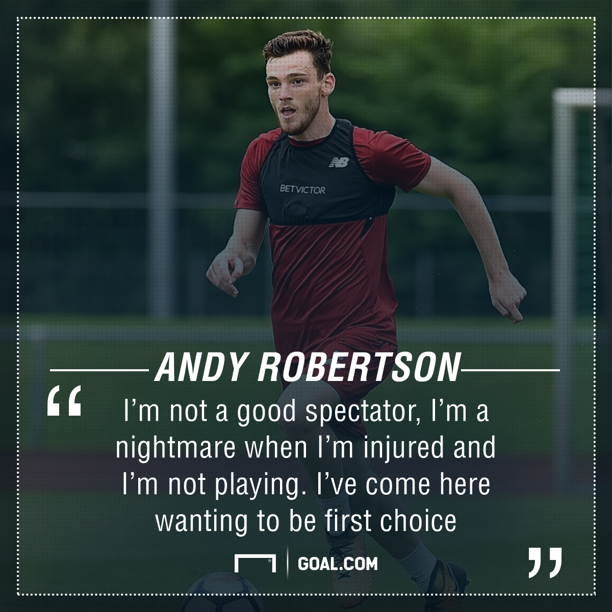GFX Andy Robertson Liverpool quote