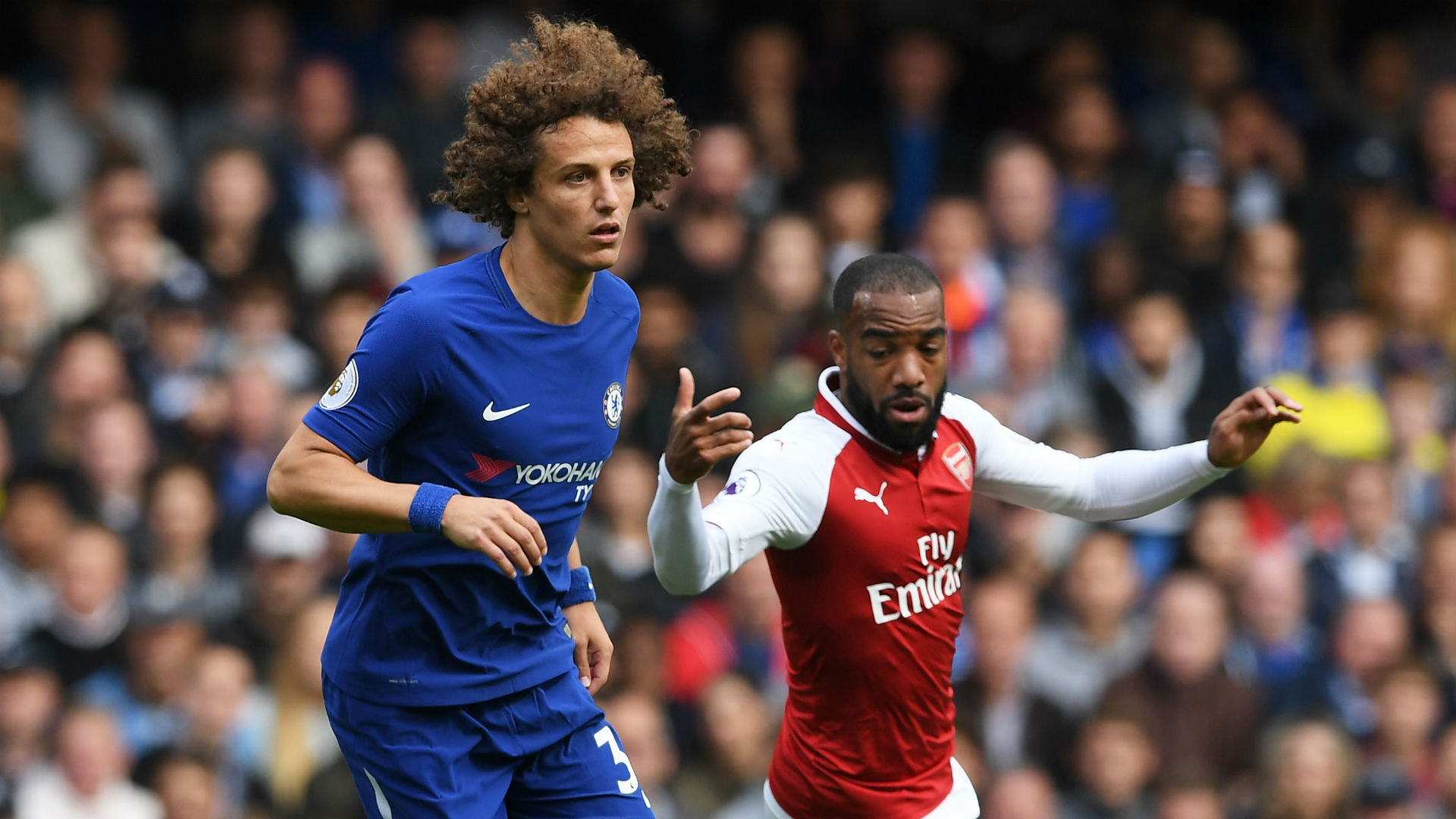 David Luiz Chelsea Alexandre Lacazette Arsenal 170917