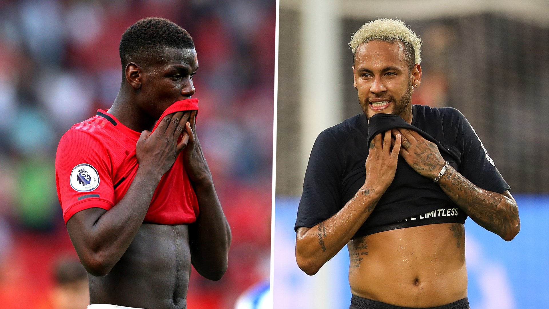 Neymar and Pogba fall out of top 25 players in the world