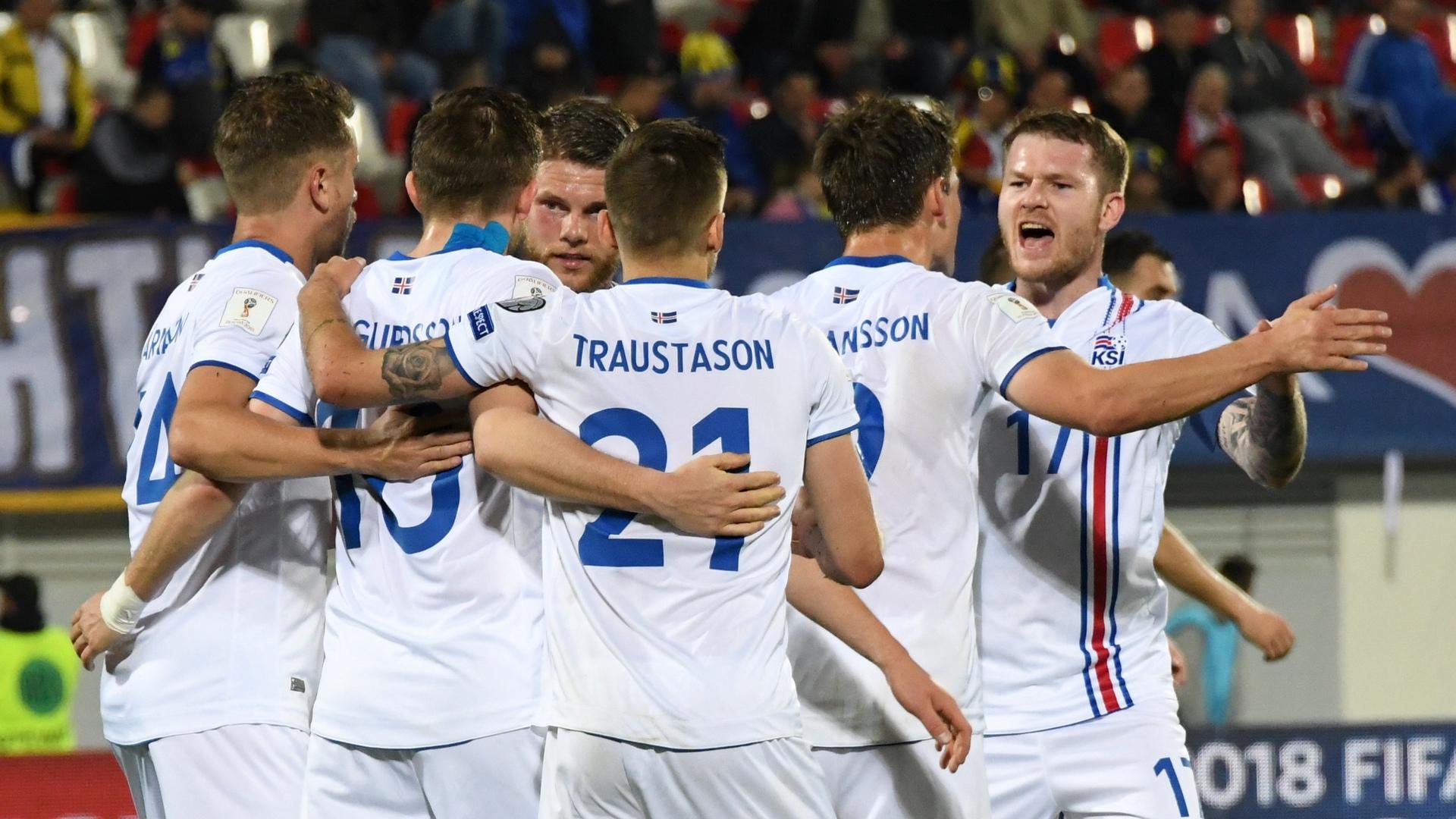 Kosova Iceland Goal Celebration 03242017