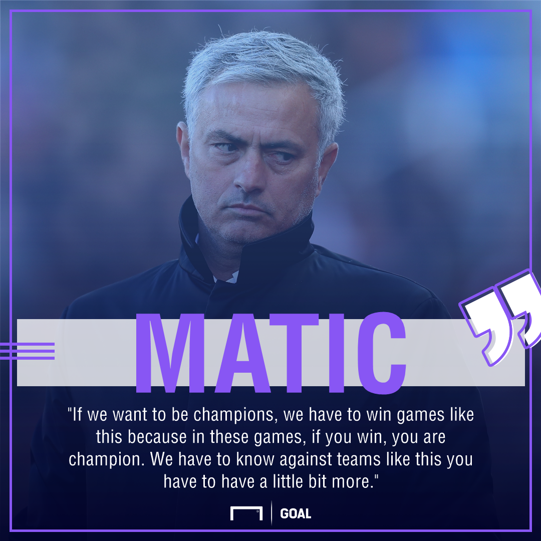 Nemanja Matic Manchester United Stoke title