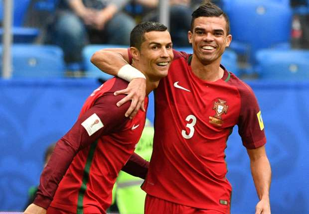 Ronaldo steers clear of future talk again after leading Portugal to Confederations Cup semi-finals