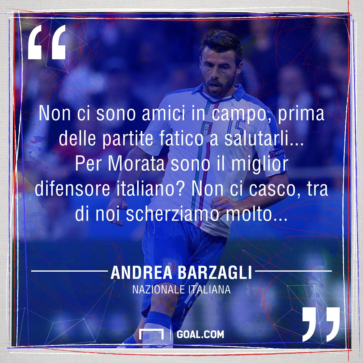 Barzagli sfida Morata: