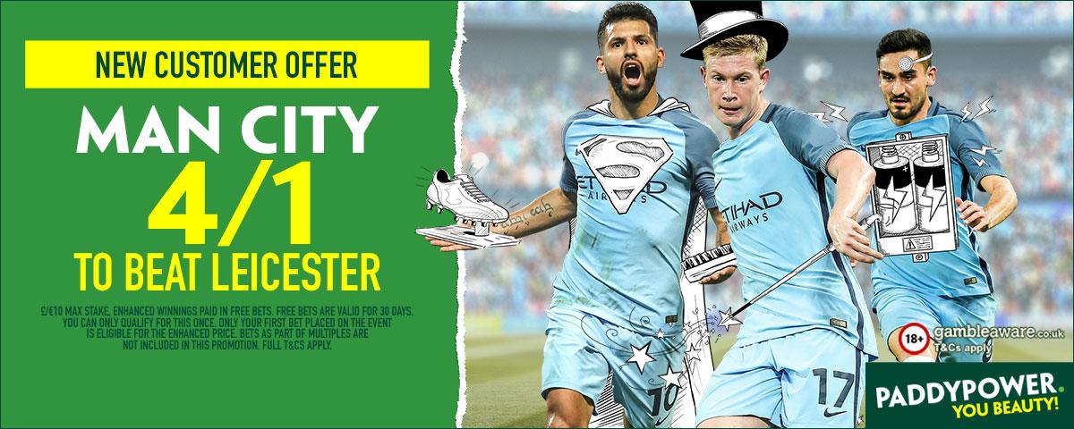 GFX Man City Leicester enhanced betting