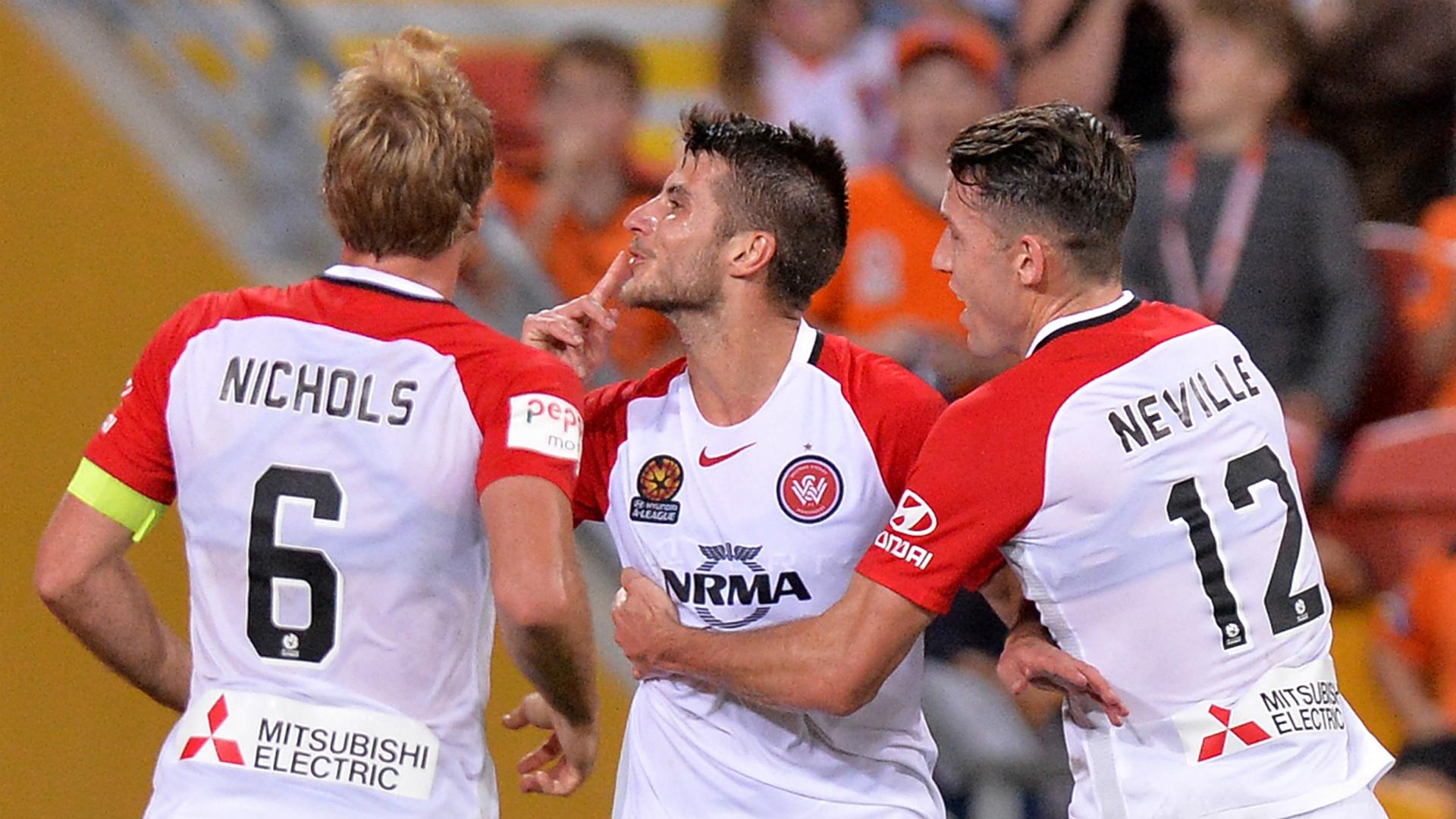 Terry Antonis Brisbane Roar v Western Sydney Wanderers A-League 21042017