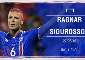 RAGNAR SIGURDSSON | El central fue el líder de Islandia en defensa y colaboró también a nivel ofensivo, con el gol que iniciaba el camino de la histórica remontada ante Inglaterra para meterse en cuartos de final