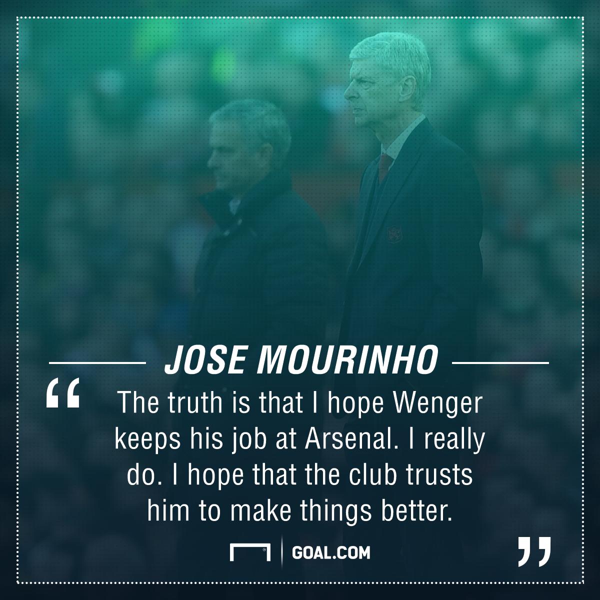 Jose Mourinho Arsene Wenger