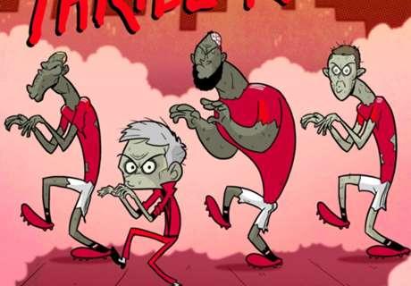 KARTUN: Man United 'Thriller'