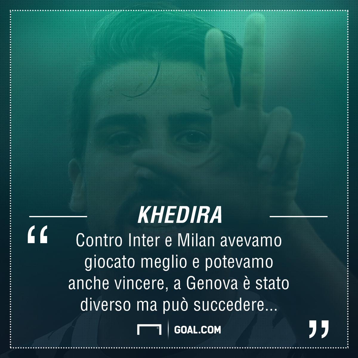 Juventus, Khedira non dimentica il Genoa: