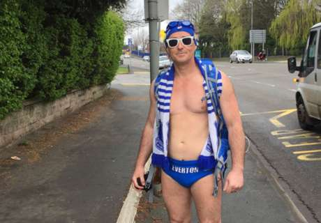 Everton fan's brilliant stunt for charity