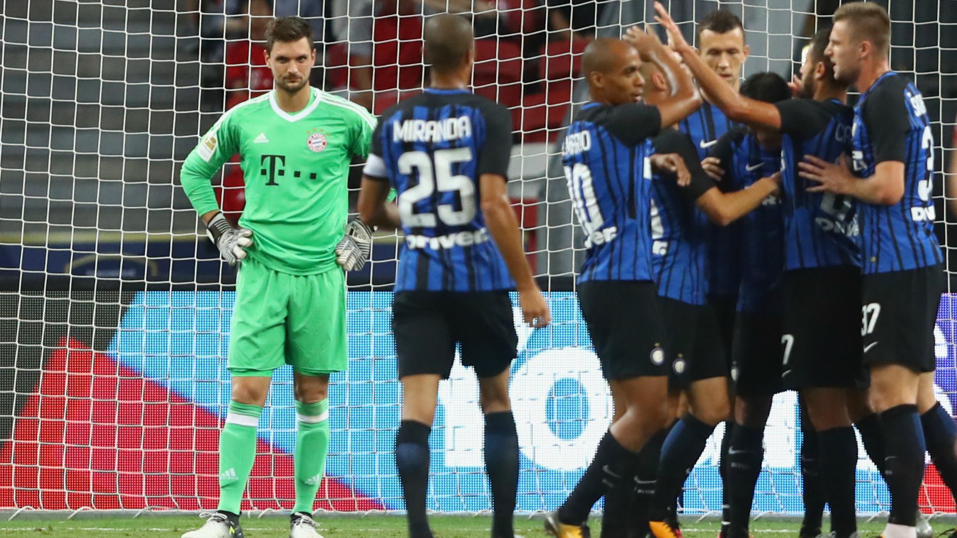 Bayern-Inter, Inter celebrating
