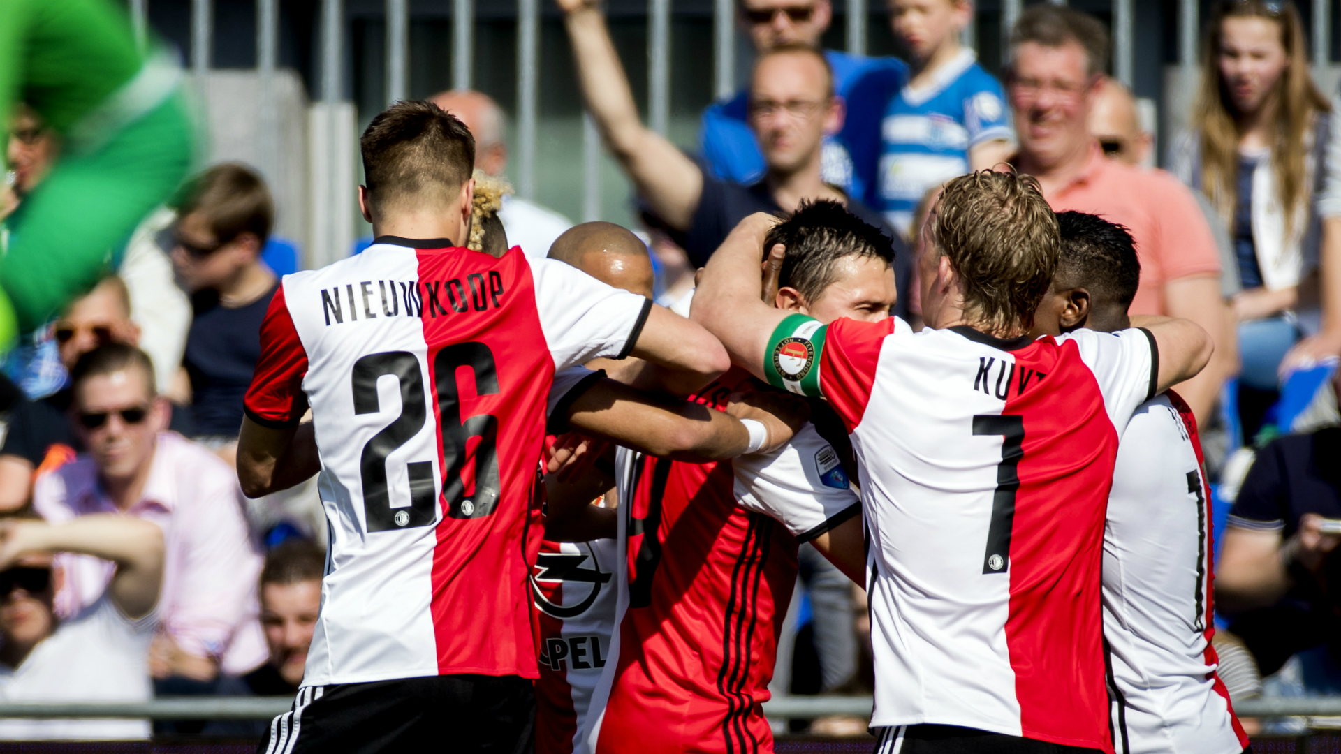Steven Berghuis PEC Zwolle v Feyenoord Eredivisie 09042017