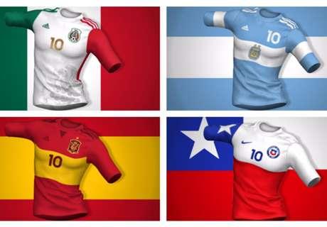 Cómo serían las camisetas si respetaran el diseño de sus banderas