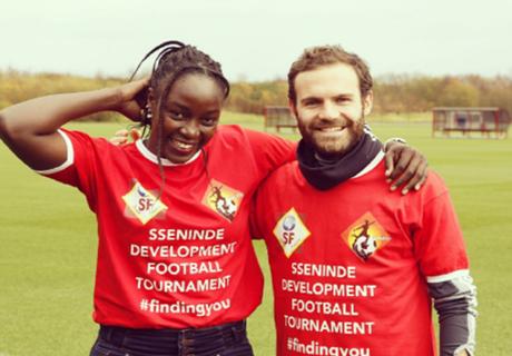 Ugandan star joins forces with Juan Mata