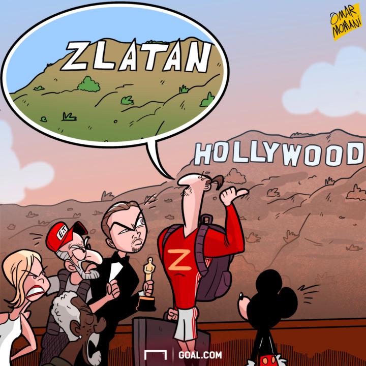 Cartoon Ibra to Hollywood