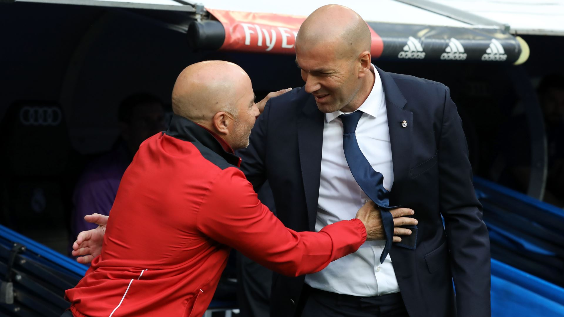 Zinedine Zidane Jorge Sampaoli Real Madrid Sevilla LaLiga 14052017