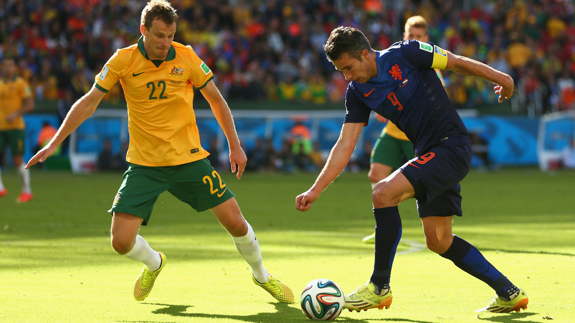 Alex Wilkinson Australia v Netherlands World Cup 18062014