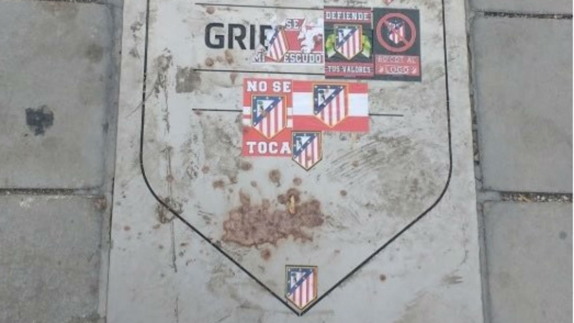 Atlético Madrid : la plaque en l'honneur d'Antoine Griezmann vandalisée
