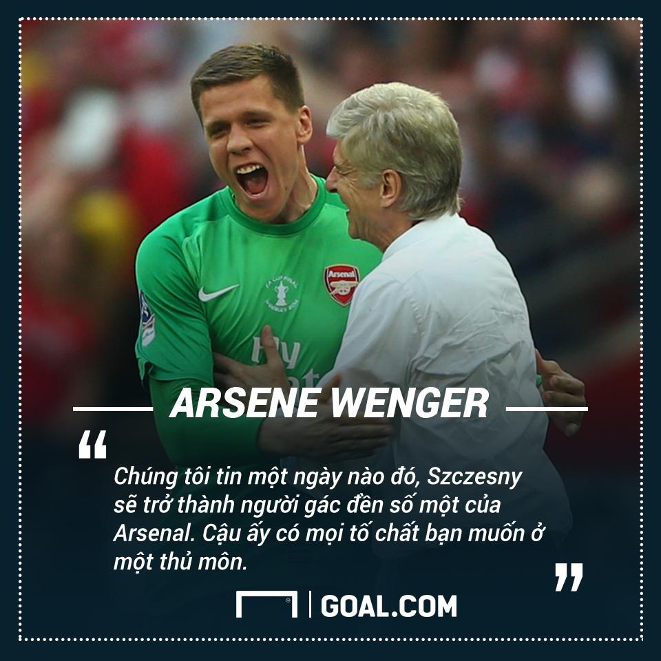 Wojciech Szczesny Arsene Wenger Arsenal