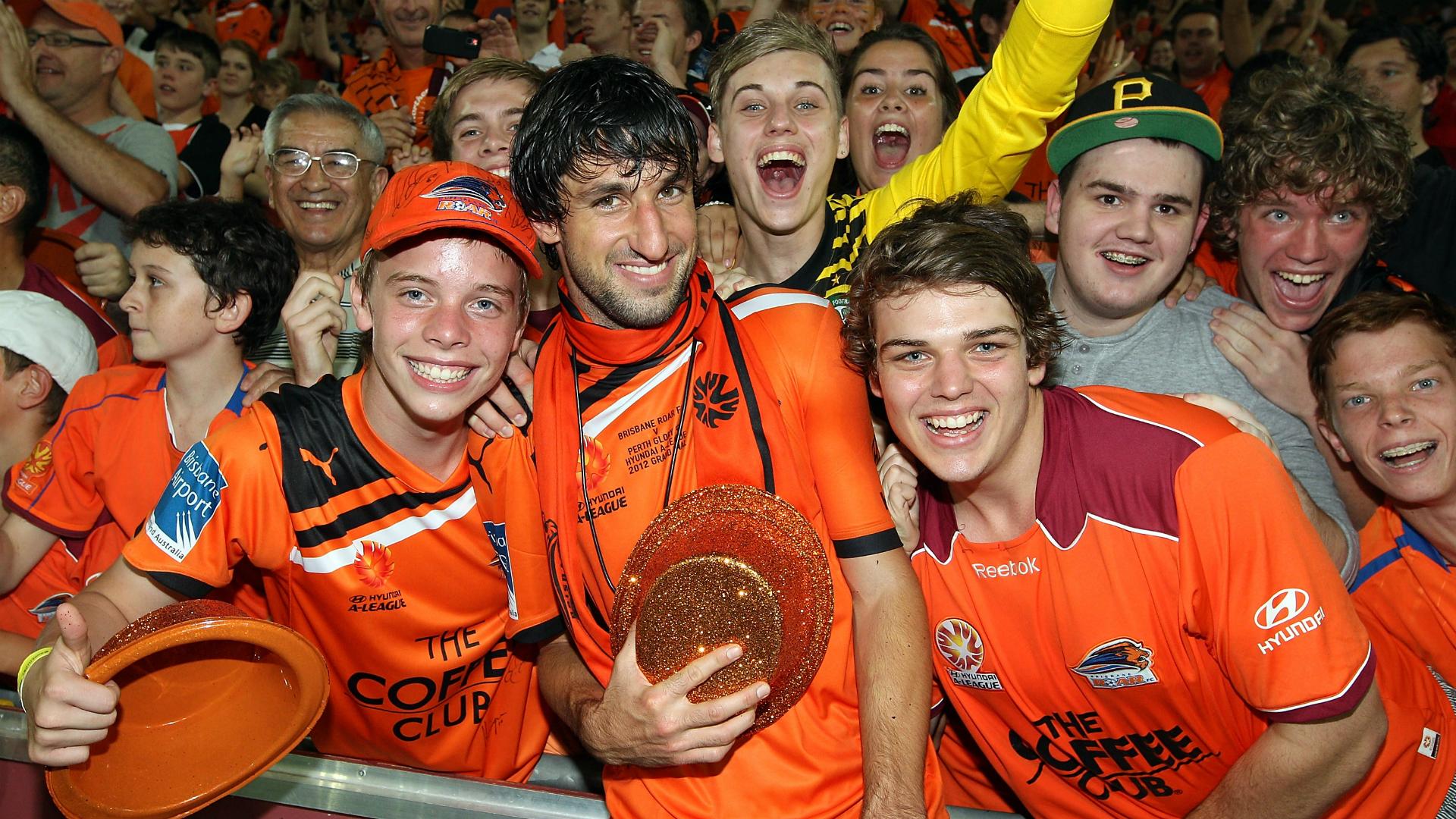 Thomas Broich Brisbane Roar v Perth Glory A-League 22042012