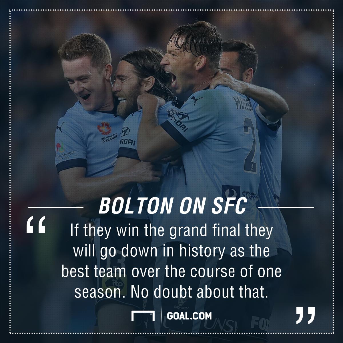 GFX Clint Bolton Quote Sydney FC
