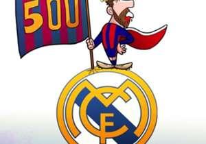 Meski mengalami pendarahan di bibir karena terkena sikut Marcelo, Lionel Messi tetap tampil trengginas di Santiago Bernabeu. La Pulga mencetak gol pembuka dan penentu kemenangan di menit terakhir (yang merupakan gol ke-500 Messi bersama Barca) untuk me...