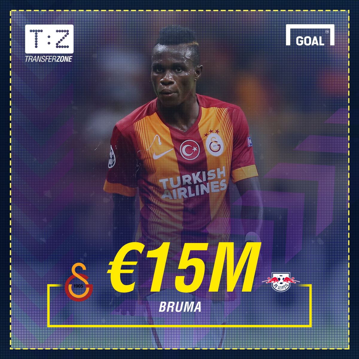 Leipzig signs Portuguese winger Bruma from Galatasaray