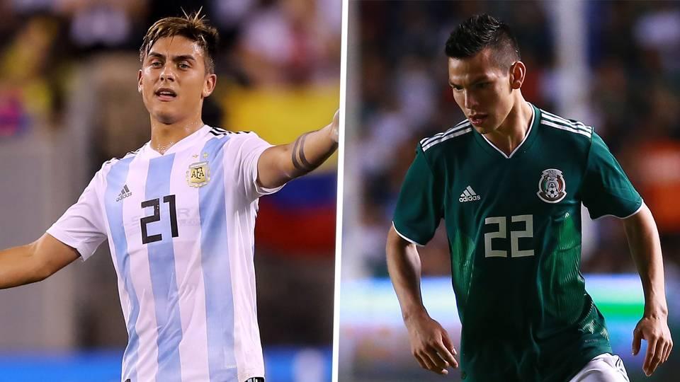 Paulo Dybala Hirving Lozano Argentina Mexico GFX