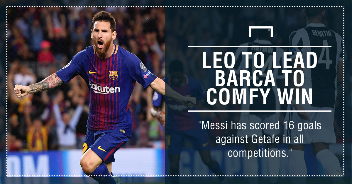Barcelona Getafe Messi graphic