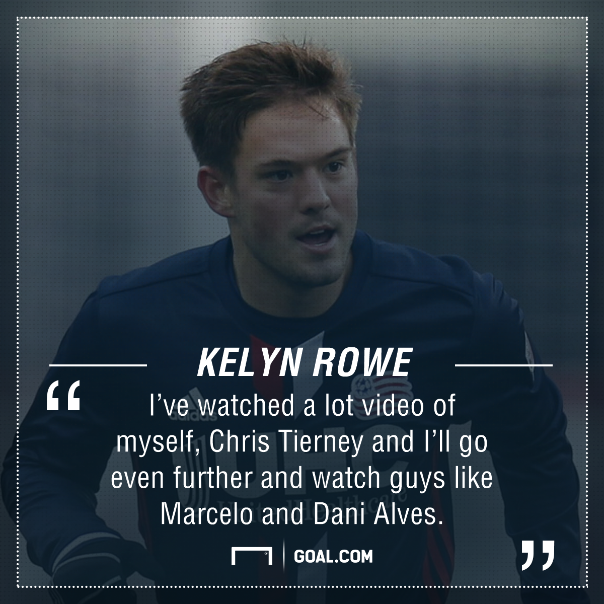 Kelyn Rowe playing surface