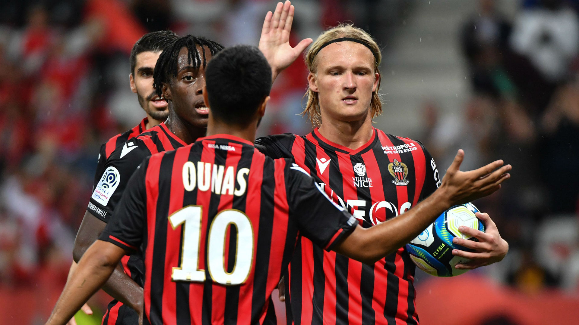 Nice boss Vieira reveals when Ounas will return from injury