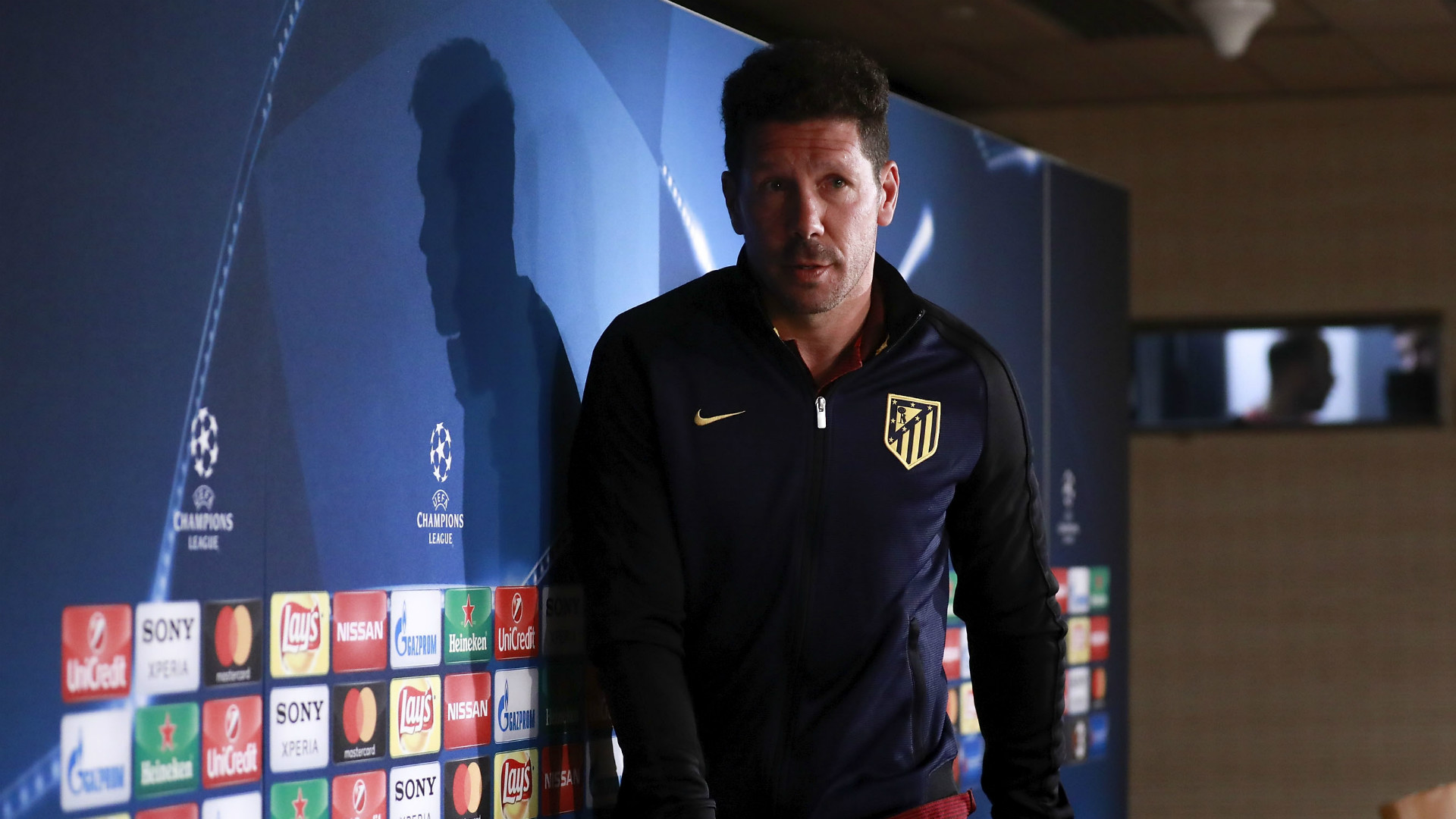 Diego Simeone Atletico Madrid before Real Madrid clash Champions League