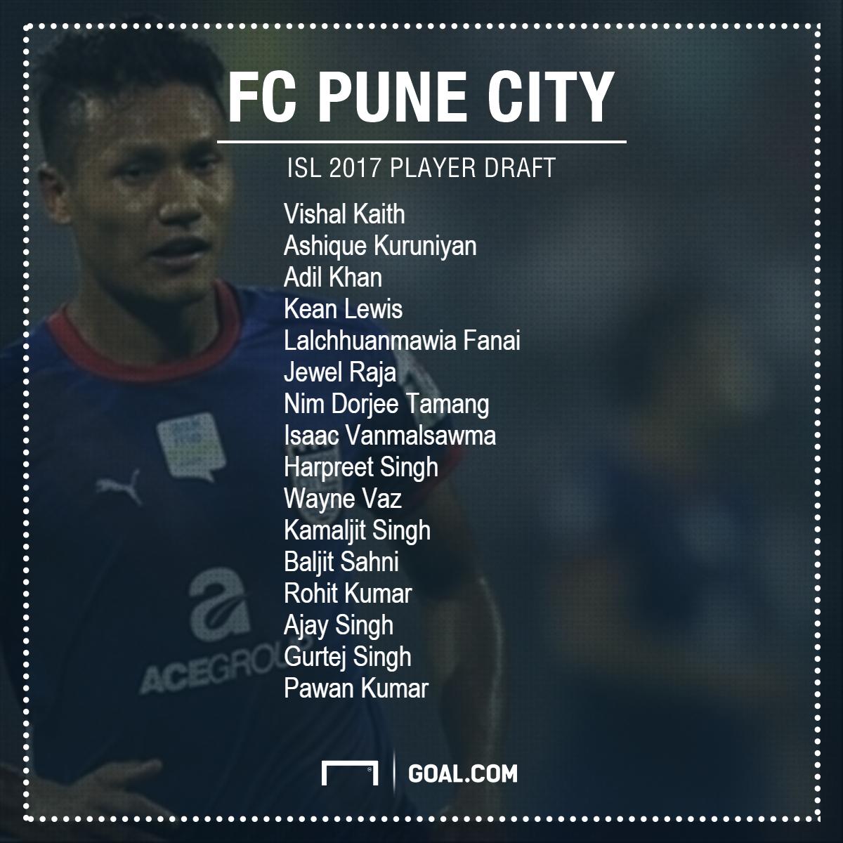 FC Pune City Draft
