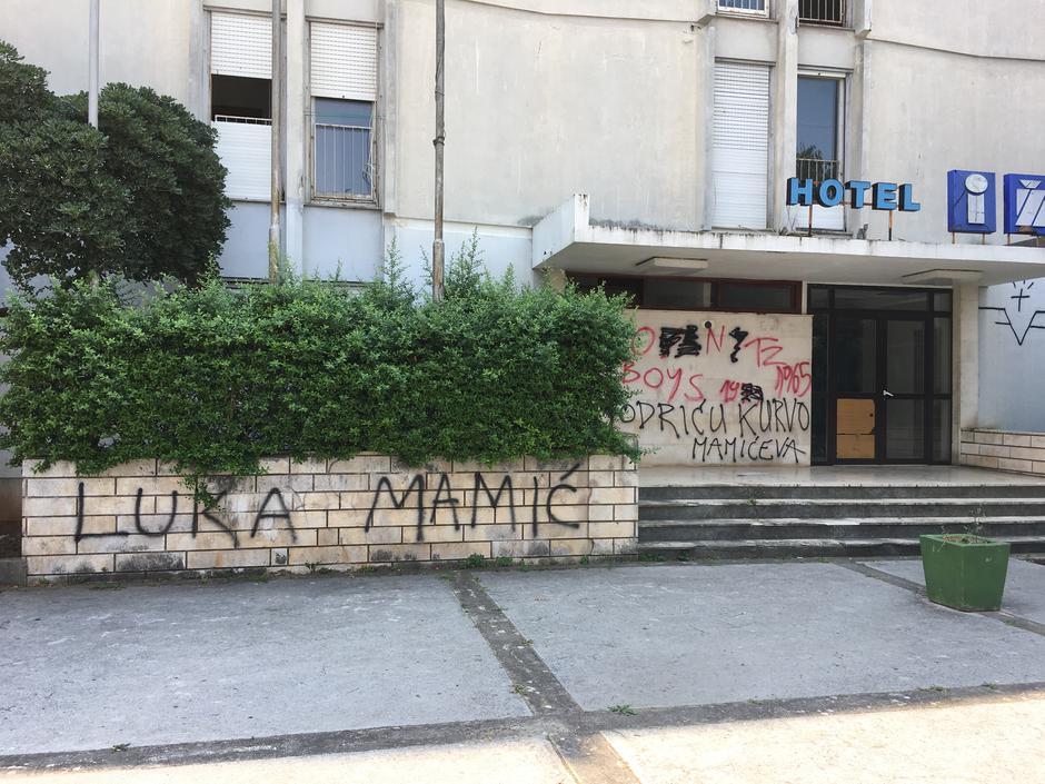 luka modric banner in zadar 2017