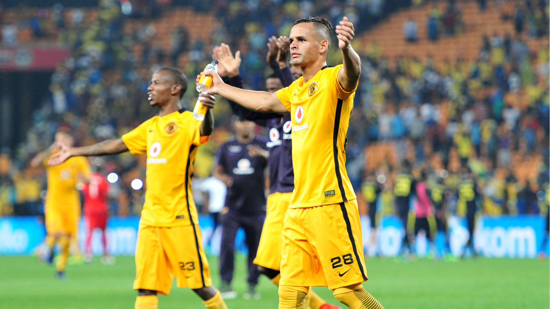 Gustavo Paez and Joseph Molangoane - Kaizer Chiefs.
