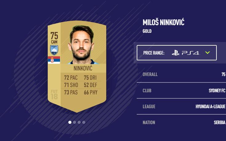 Milos Ninkovic FIFA 18