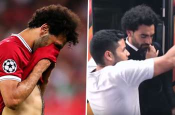 Watch moment Egypt fan grabs Salah's injured shoulder as he scrambles to take a selfie