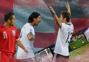 Engeland staat vrijdagavond op Wembley tegenover Duitsland in een oefenduel. De twee grootmachten hebben een rijke historie tegen elkaar.
