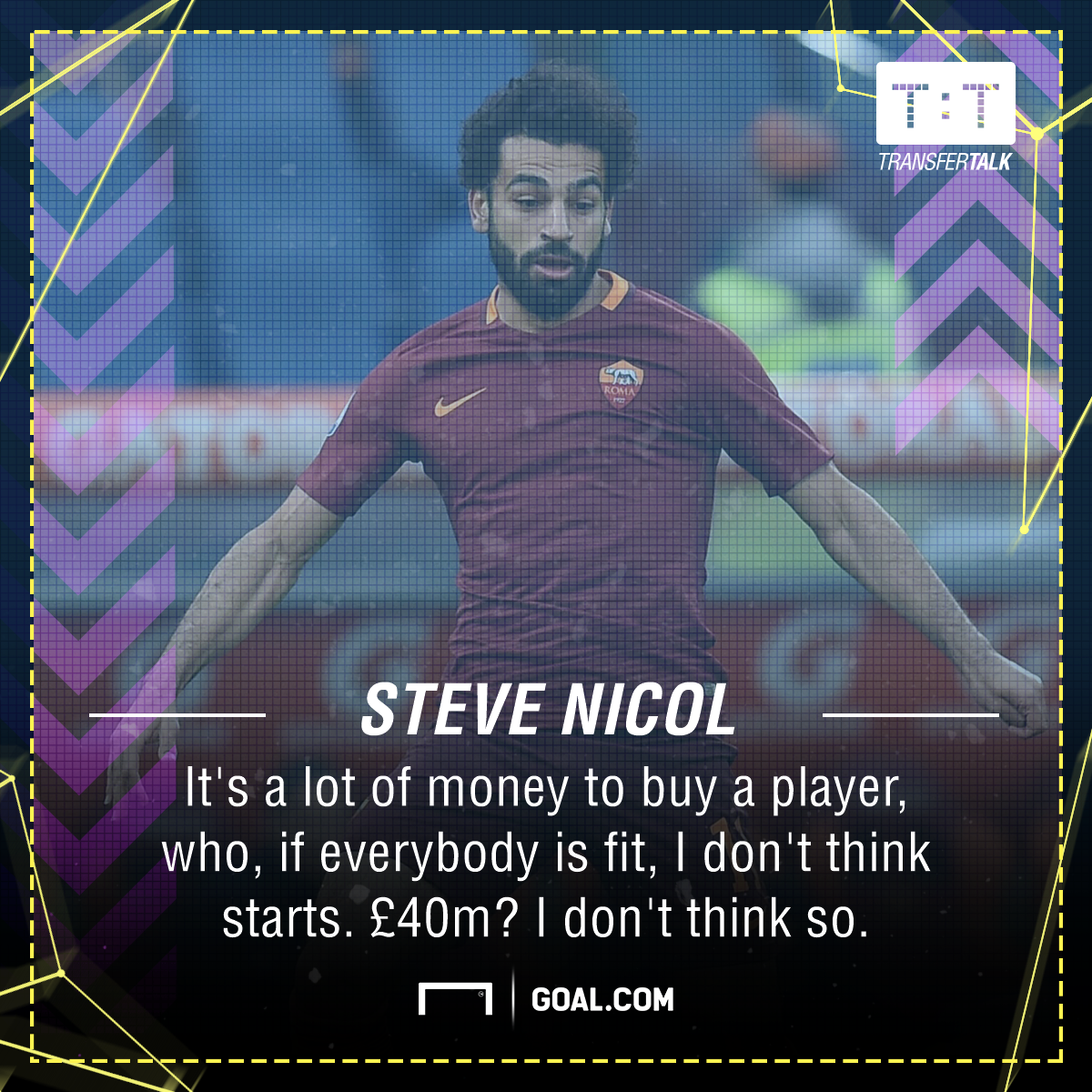 Steve Nicol Mohamed Salah Liverpool