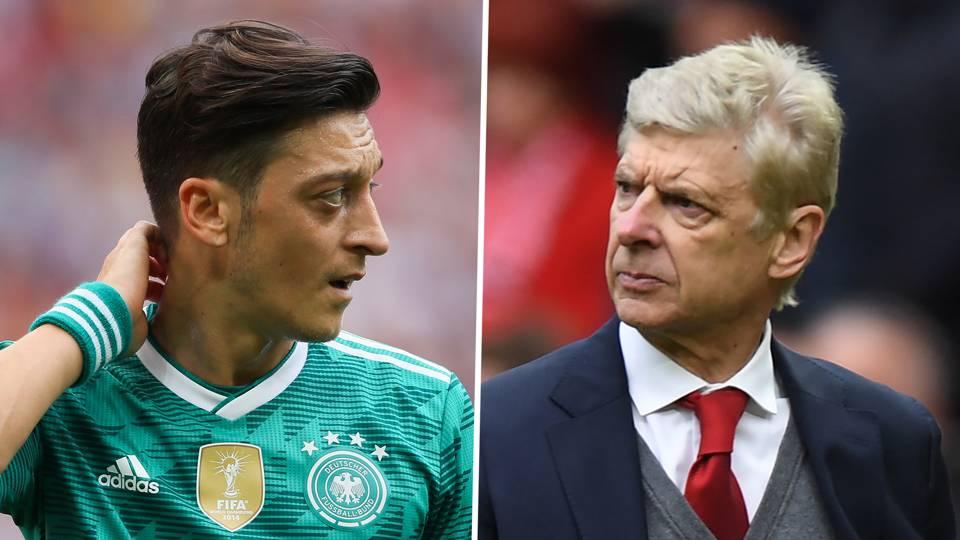 Mesut Ozil Arsene Wenger Germany Arsenal 2017-18