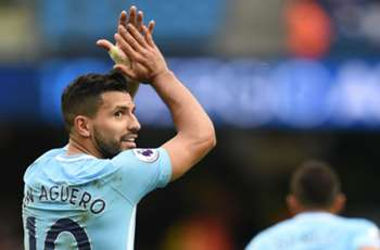 Sergio Aguero equals Man City's all-time scoring record