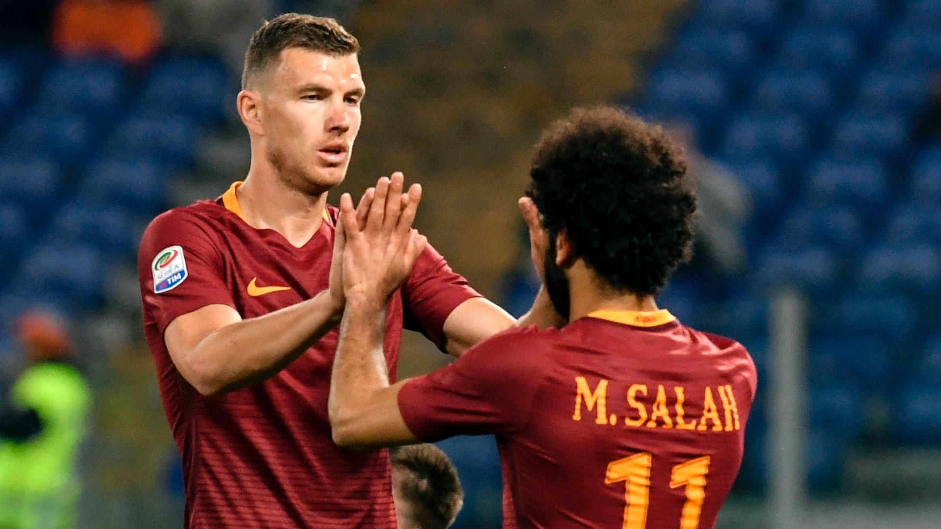 Edin Dzeko Mohamed Salah Roma Empoli Serie A