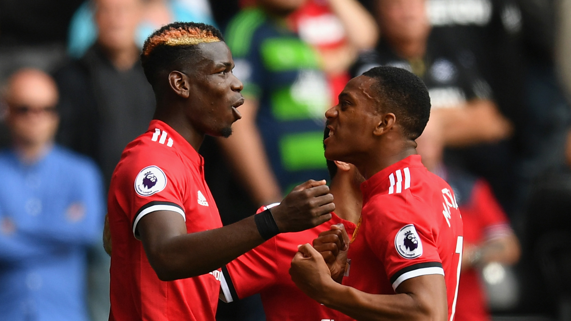 Paul Pogba Anthony Martial Manchester United Swansea City