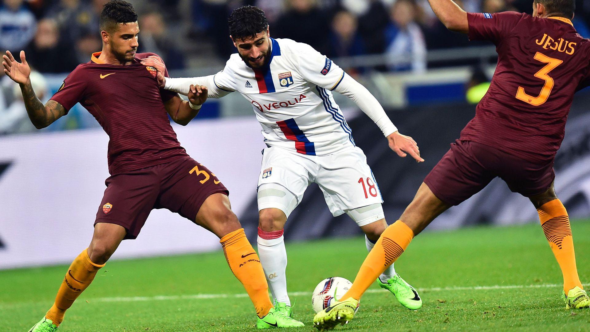 Nabil Fekir Lyon Roma Europa League